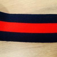 Bande bleu rouge 4 cm 2