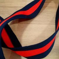 Bande bleu rouge 4 cm