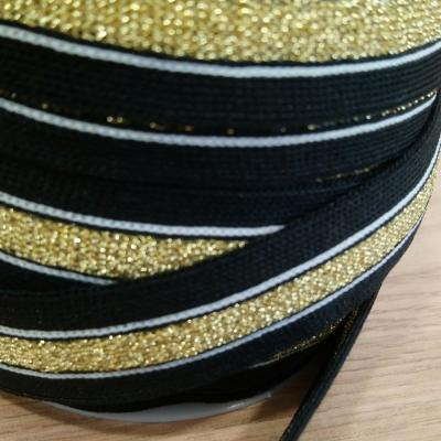 Bande jersey noir 2 5 cm 2