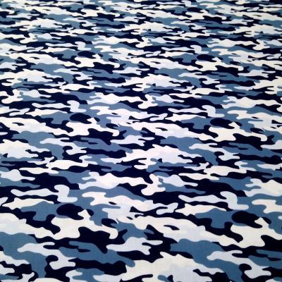 Camouflage bleu coton