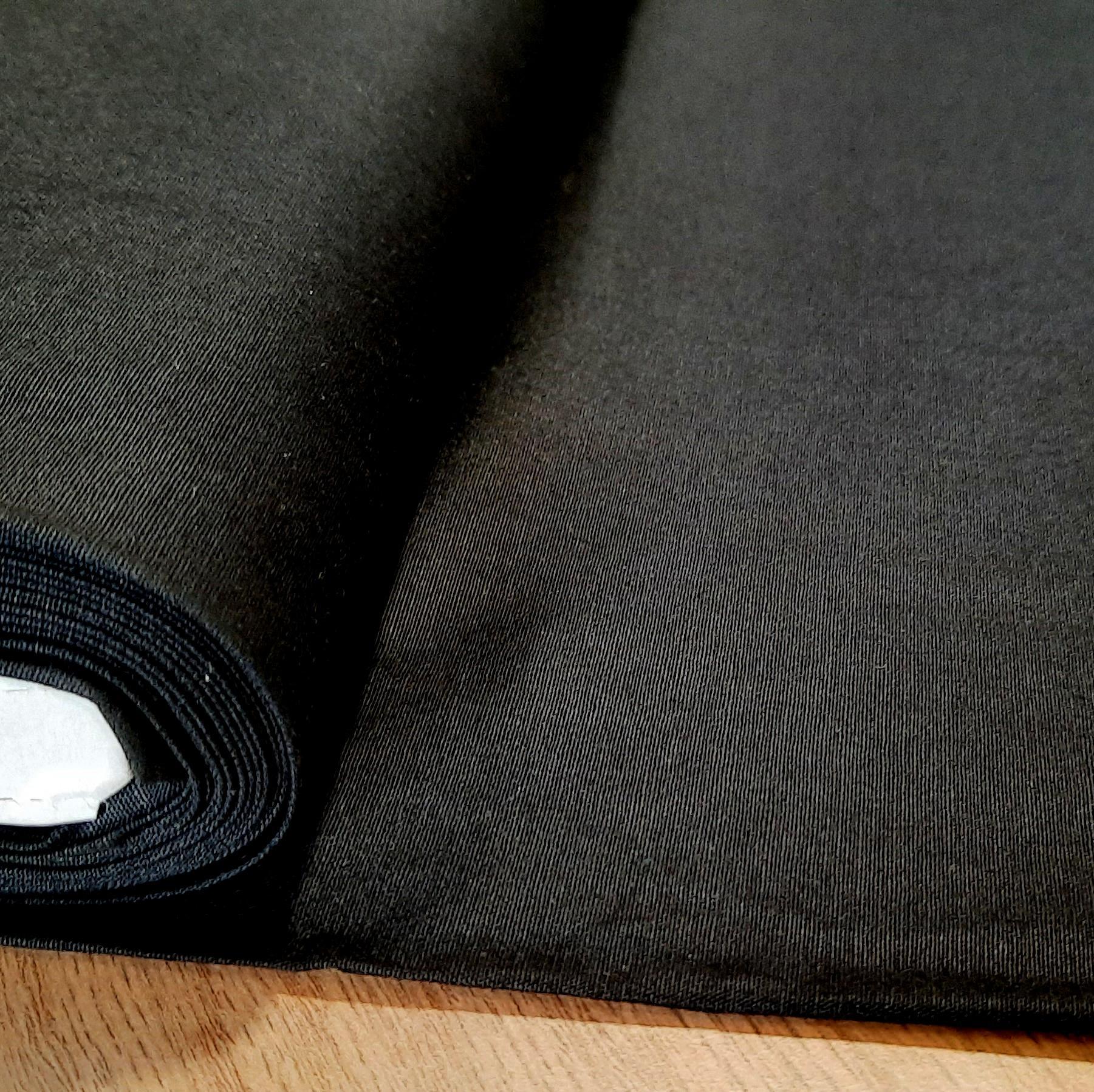 Coton popelin noir