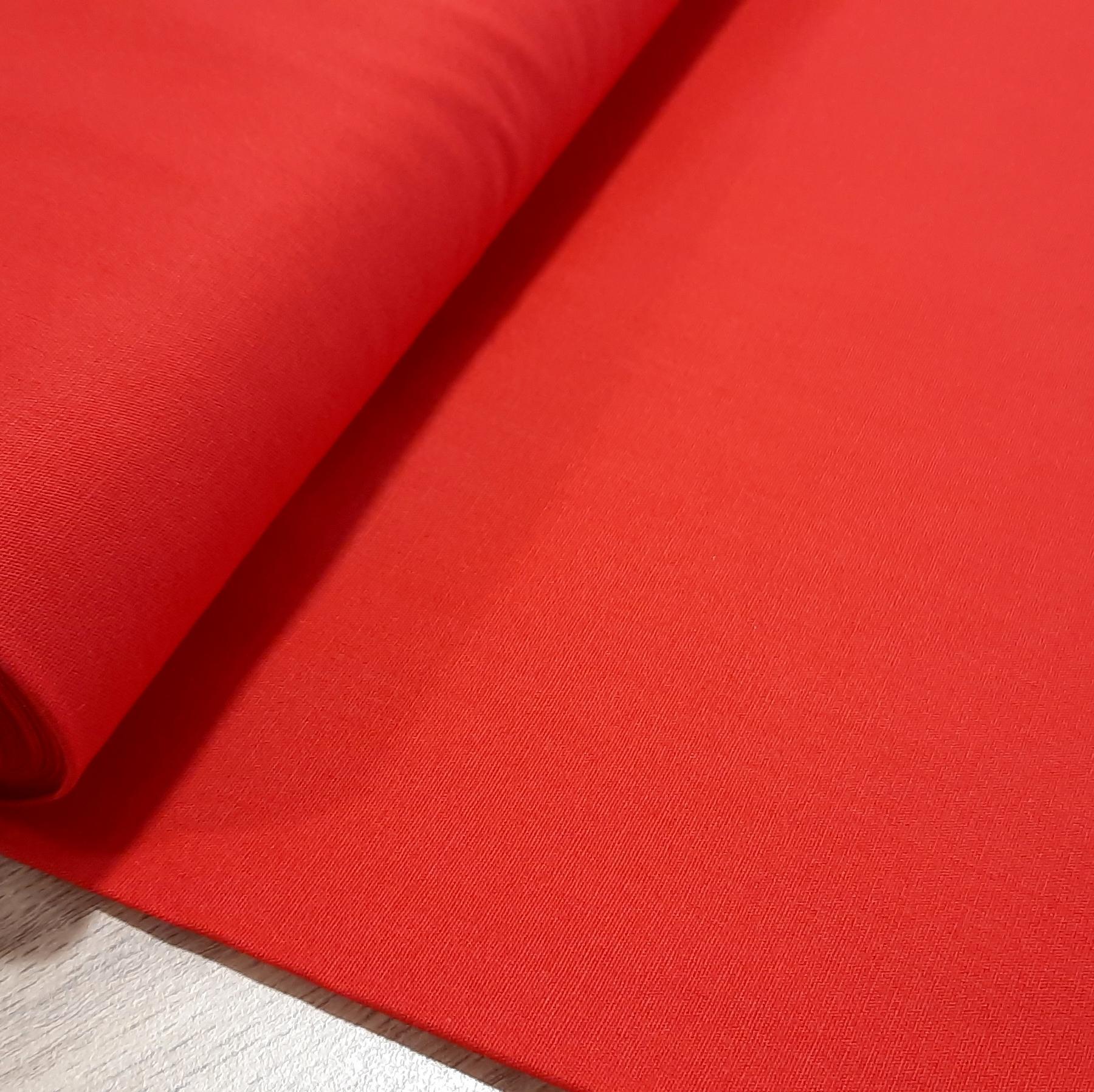 Coton popelin rouge