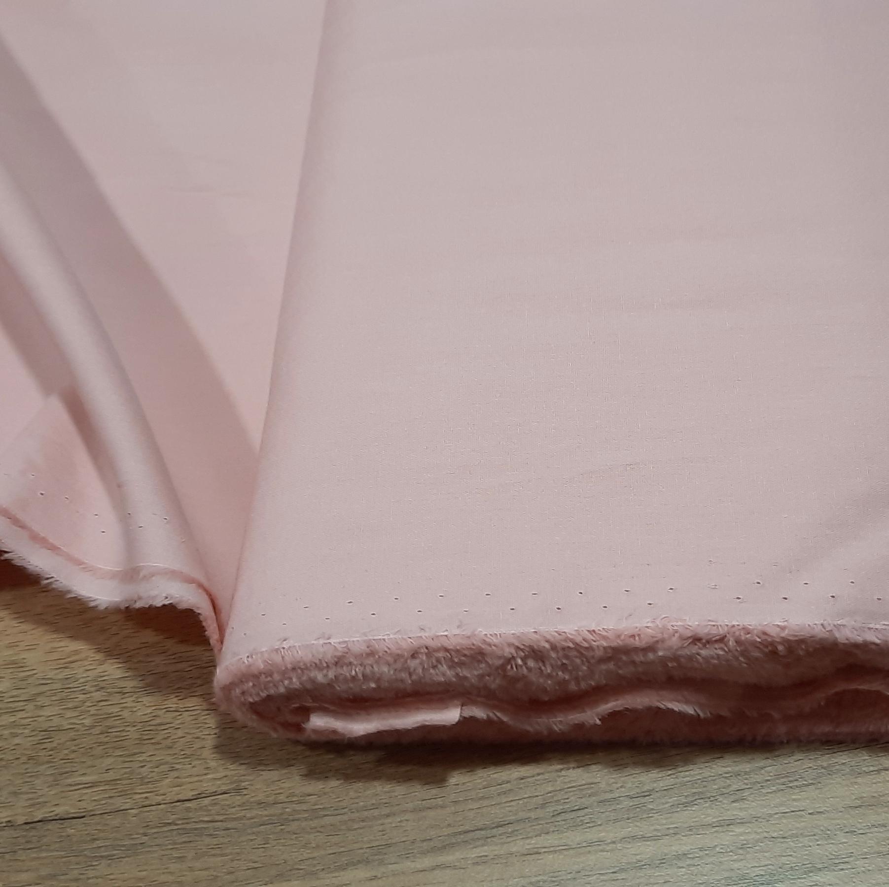 Coton uni rose clair 1