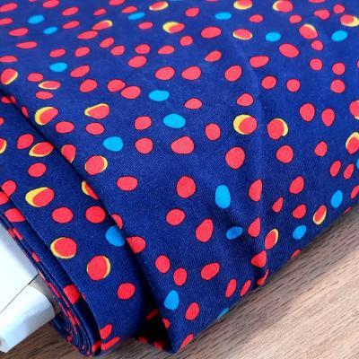 Jersey bleu pois rouge 1