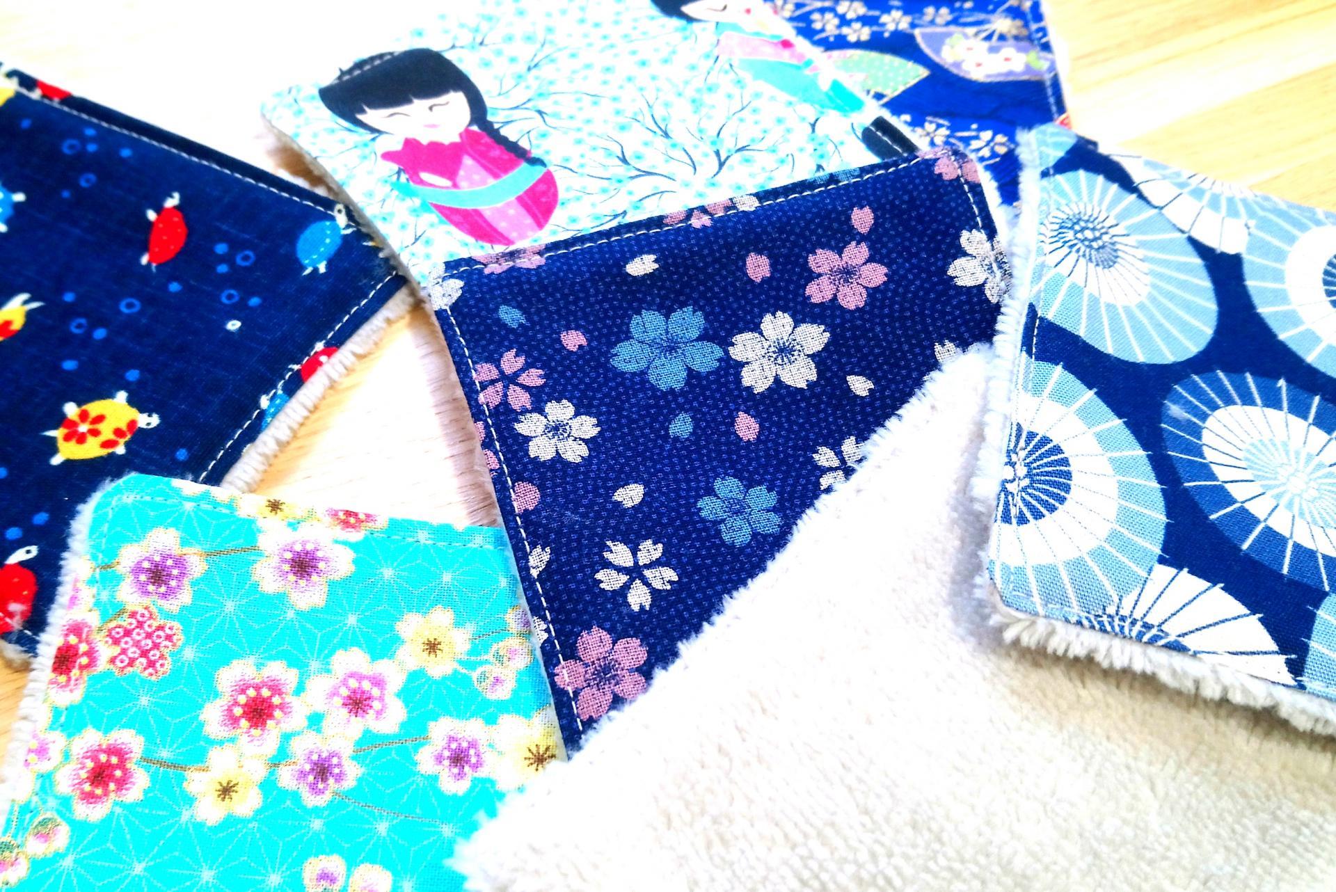 Lingette japon bleu 2020