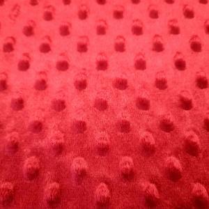 Minky rouge fonce 4
