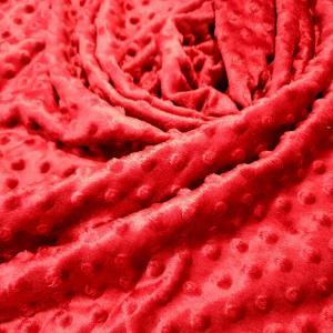 Minky rouge fonce 5