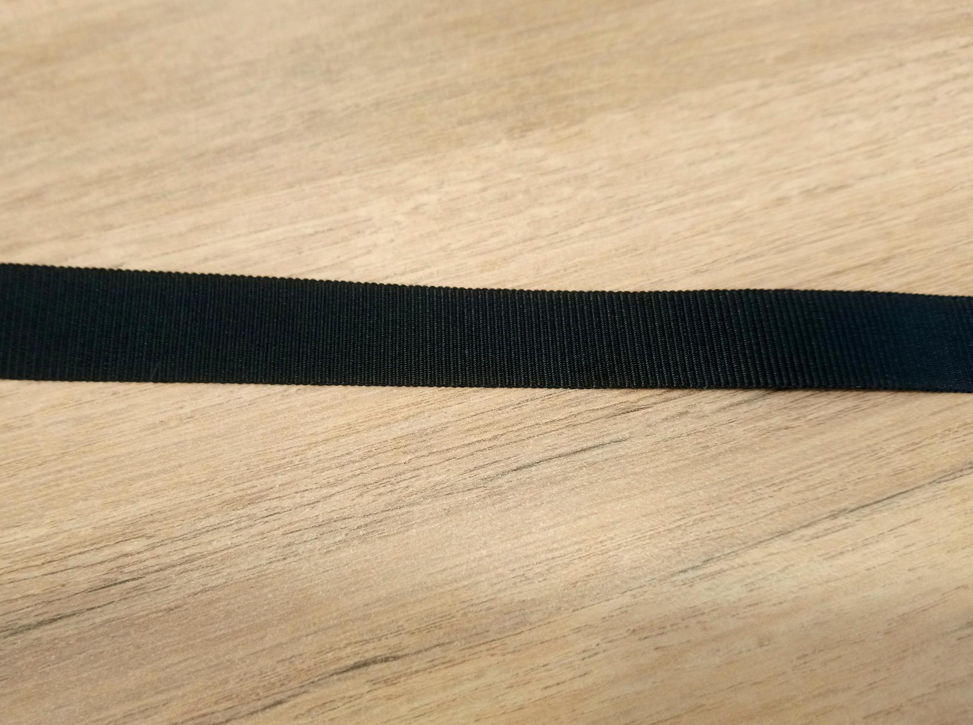 Ruban gros grain noir 15 mm