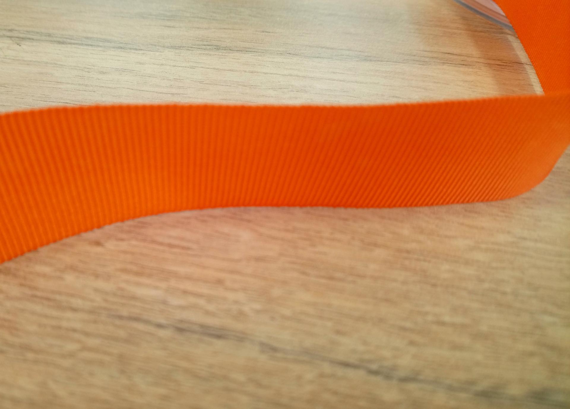 Ruban gros grain orange 25 mm