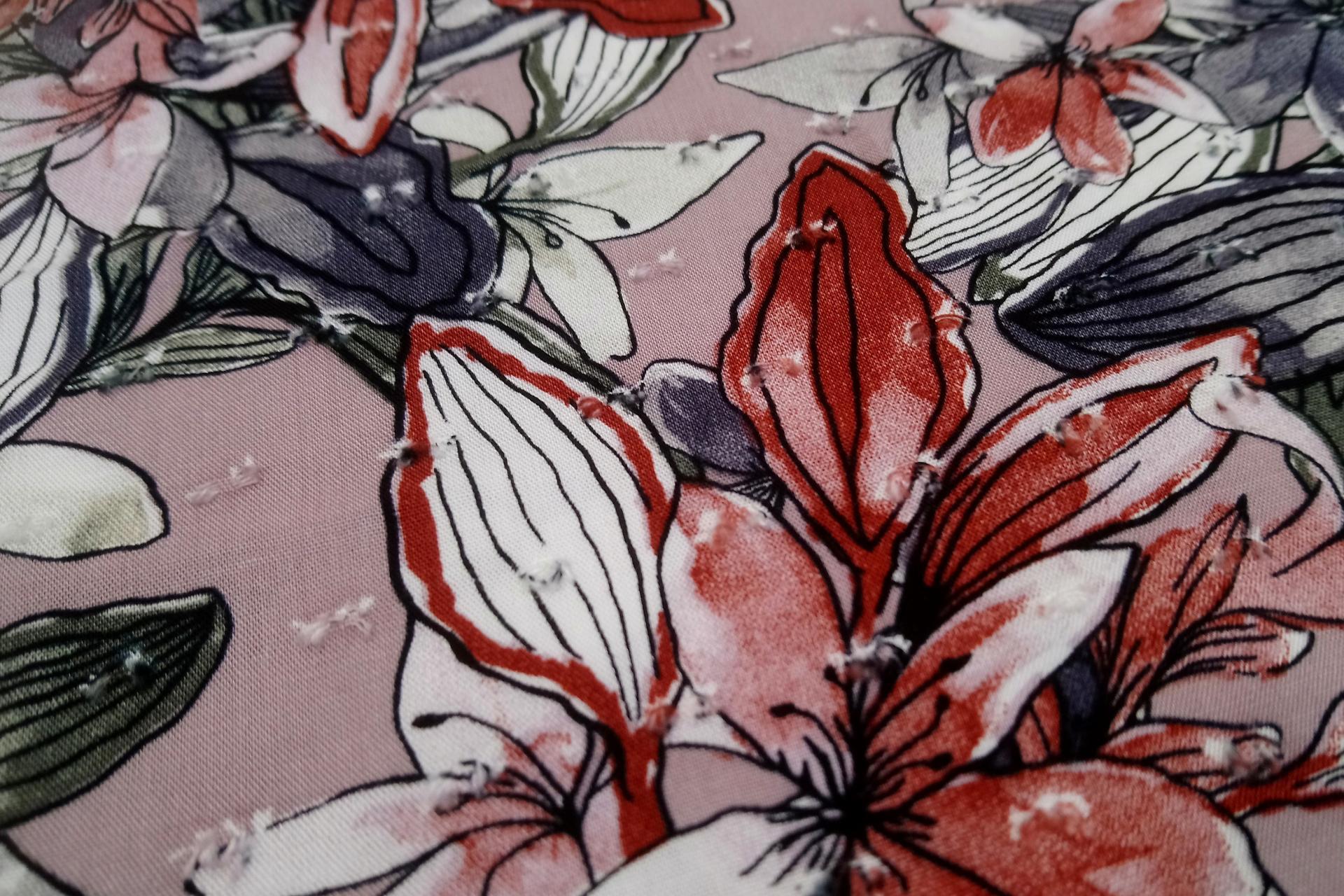 Vieux rose viscose 3